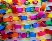 Brightly Multi-Colored Felt Garland * Felt Garland in Rainbow and Crayola Crayon Colors  * Festive Felt Chain * Holiday * Christmas