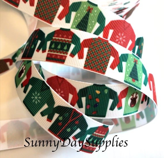 Ugly Sweater Ribbon Ugly Christmas Sweaters Red Green Etsy