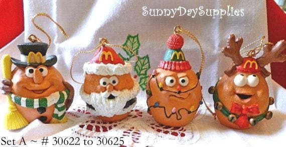 A Merry McNugget Christmas Ornaments Set A Vintage McNugget | Etsy