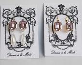 Lavender Crystal Earrings, Light Purple Georgian Crystal Earring 18th Century Earring, Reenactor Jewelry, Swarovski Crystal Earrings Purple