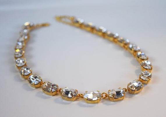 Clear Swarovski Crystal Necklace Swarovski Rhinestone  718672e6b