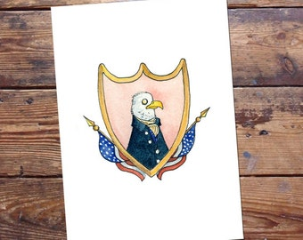 Eagle Patriot Original Painting