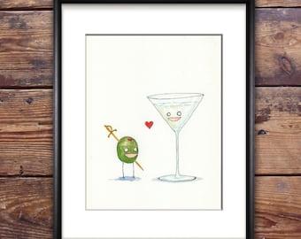 Dirty Martini Original Painting