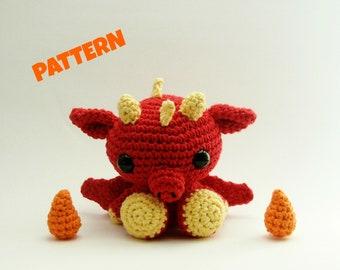 Dragon Amigurumi Pattern, Crochet Amigurumi Pattern, Crochet Animal Pattern, Amigurumi Pattern, Crochet Pattern, Kids Toys, Doll Pattern