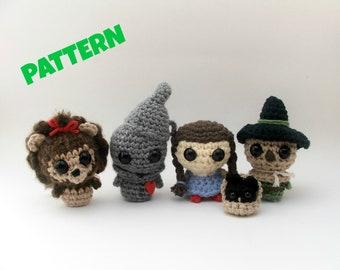 Wizard of Oz Dolls Pattern, Crochet Pattern, Amigurumi Pattern, Amigurumi Doll Pattern, Crochet Doll Pattern, Amigurumi Crochet Doll Pattern