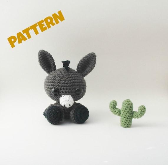 Amigurumi Donkey Pattern Crochet Animal Pattern Amigurumi Etsy