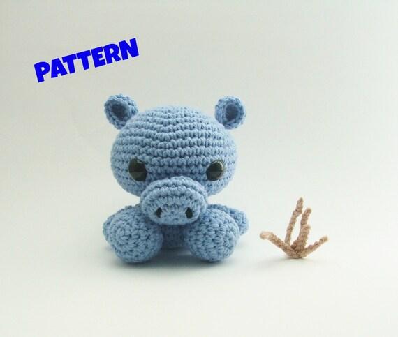 Amigurumi Hippo Pattern Crochet Animal Pattern Amigurumi Etsy