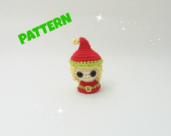 Amigurumi Elf Pattern, Crochet Christmas Pattern, Amigurumi Christmas Pattern, Crochet Doll Pattern, Amigurumi Doll Pattern, Crochet Pattern