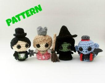 Wizard of Oz Doll Set Pattern, Pattern Bundle, Crochet Pattern Set, Crochet Doll Pattern, Amigurumi Doll Pattern, Crochet Amigurumi Pattern