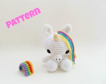 Crochet Unicorn Doll Pattern, Crochet Easter Pattern, Amigurumi Easter Pattern, Crochet Easter Toy Pattern, Crochet Amigurumi Patterns