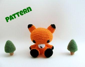 Amigurumi Fox Pattern, Crochet Fox Pattern, Amigurumi Easter Pattern, Crochet Easter Patttern, Crochet Animal Pattern, Amigurumi Patterns