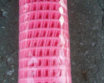 "Hot Pink Windowpane Mesh 21"" by 10 yds"