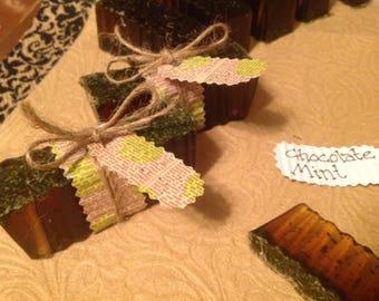 Chocolate Mint Glycerine Bar Soaps