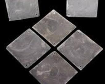 2 inch Capiz Squares  Top Quality  Bulk Priced