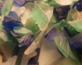 Beach Glass Bulk Sea Glass 1 lb pound , 16 ounces approx Blue ,Green ,Clear White Tumbled Glass
