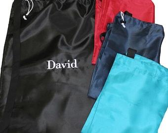 Monogrammed Laundry Bag - Personalized Laundry Bag - Graduation Gift - Nylon Laundry Bag - Camper Laundry Bag