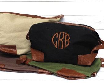 Men's Monogram Dopp Kit - Personalized Dopp Kit - Toiletry Bag - Men's Travel Bag - Monogram Travel Bag - Shave Kit - Graduation - Groomsmen