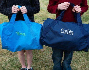 Monogrammed Overnight Bag - Personalized Duffle Bag - Kids duffle bag - Duffel Bag
