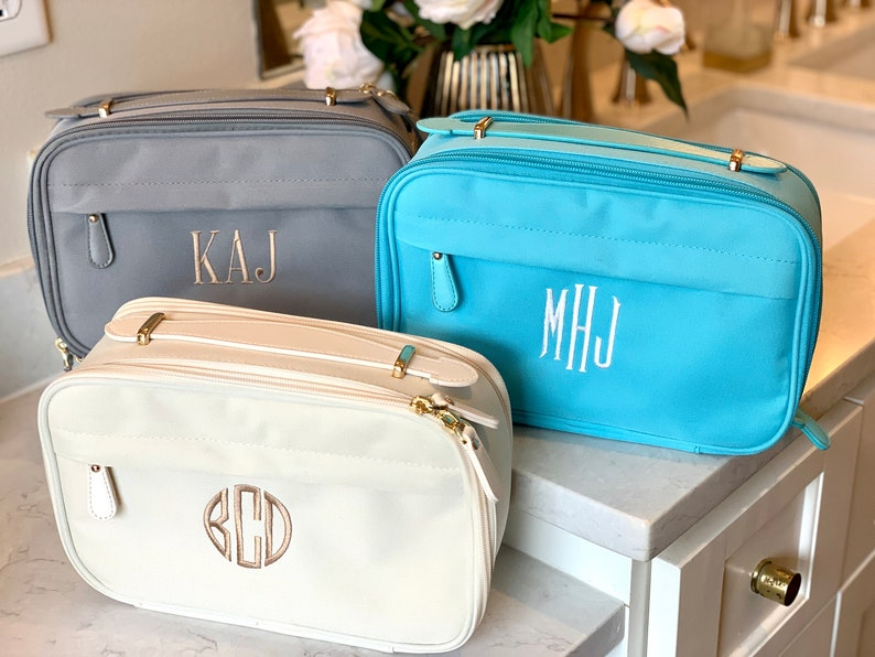 Personalized Makeup Bag  Cosmetic toiletry travel bag  image 0