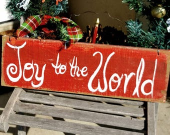 joy to the worldoutdoor christmas decorfront porch signprimitive christmas decoroutdoor christmas signhymnpersonalized christmas gift - Primitive Christmas Outdoor Decoration