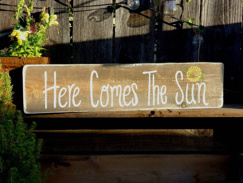Here Comes The Suncustom Wood Signprimitive Home Etsy