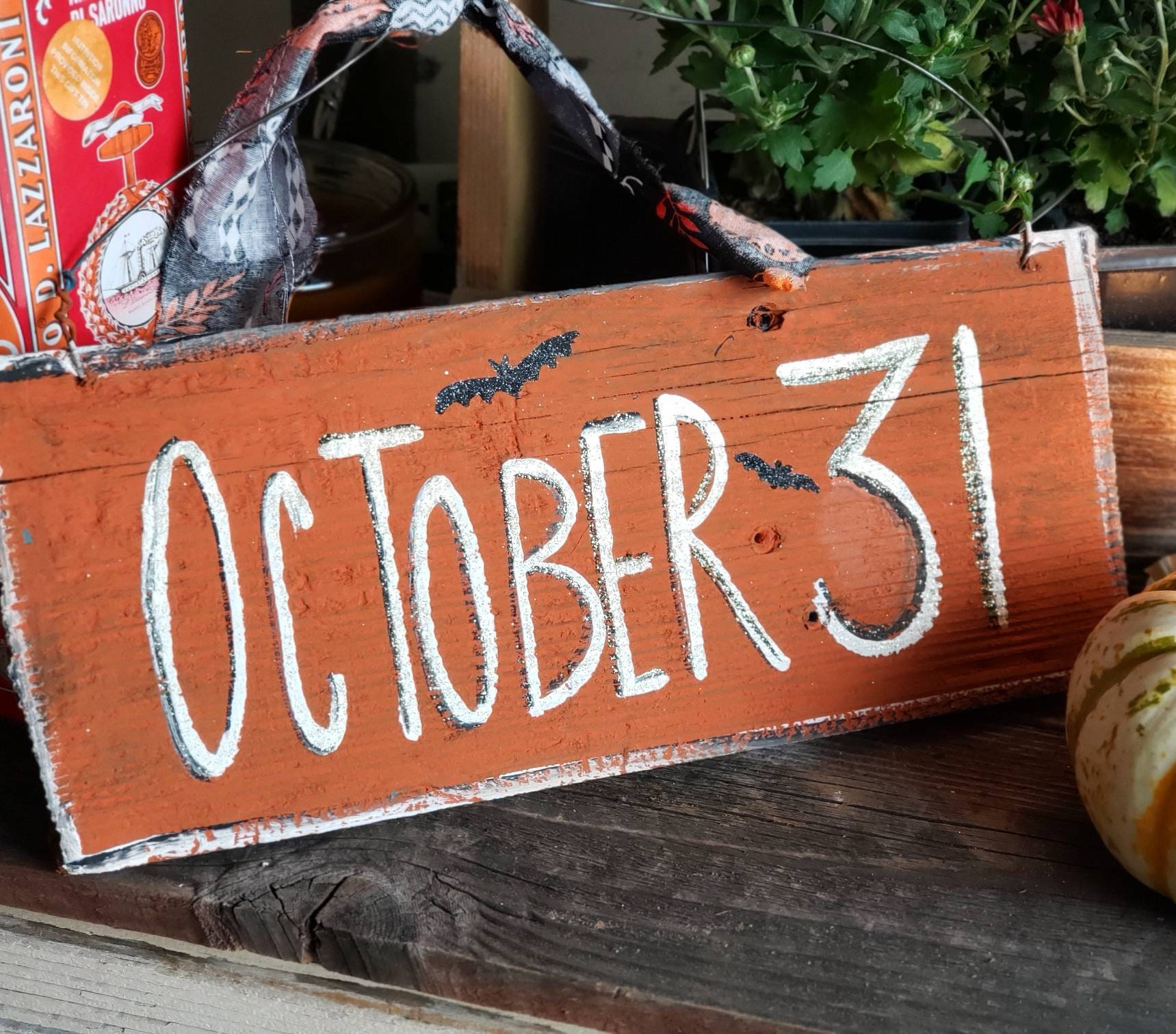 Fall Front Porch Decor Primitive Halloween Sign Autumn Decor Outdoor Fall Decorations Personalized Halloween Decor October 31 Rustic Fall