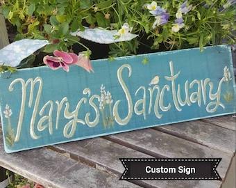 CUSTOM SIGN,personalized gift,gardening gift,hand painted custom wood sign,custom gift,custom friends gift,custom sign,garden gift for mom
