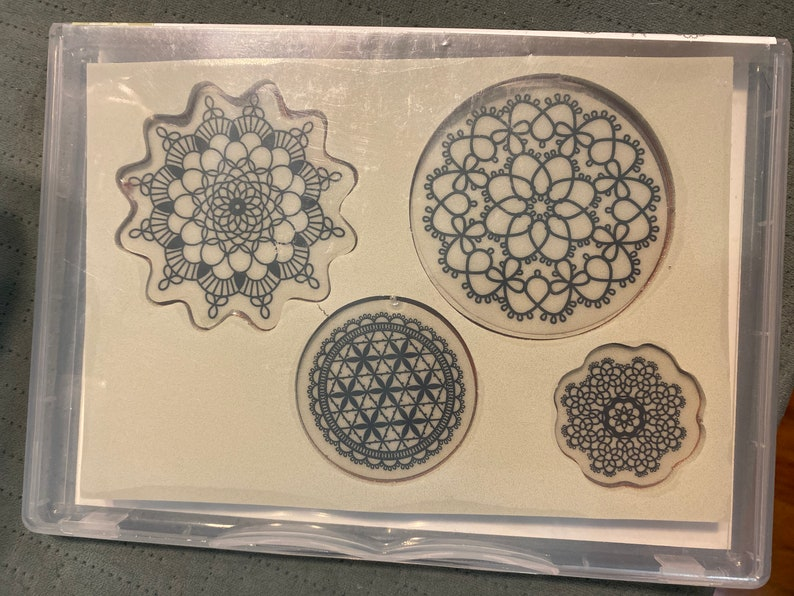 Box B Stampin/' Up! Delicate Doilies Clear Mount Rubber Stamp Set