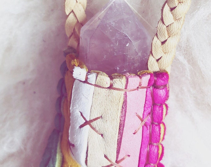 Pastel Rainbow Traveler with Rose Quartz