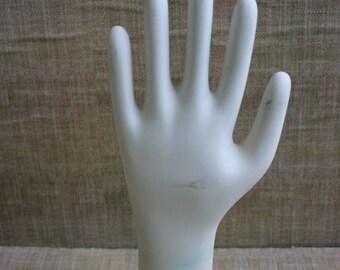 Vintage Glove Mold--Industrial Hand Mold--Ceramic Glove Mold
