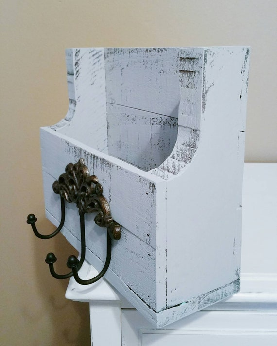 Wooden Mail Holder Mail Caddy Keyhook Keyholder Mail Box | Etsy