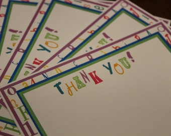 ABC 123 Thank You Cards