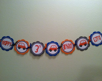 Little Orange Car Word Banner