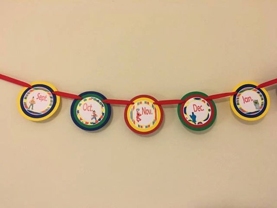 Sesame Street Inspired 12 Month Photo Banner by CustomParty4U