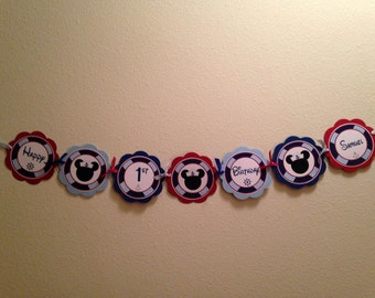 Mickey Nautical Word Banner