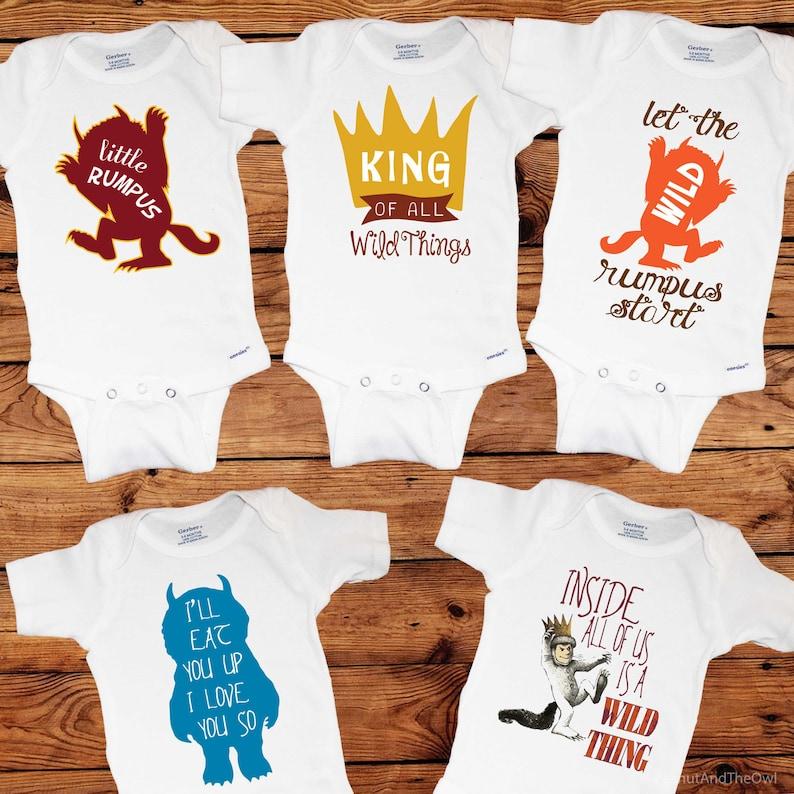 5 Onesies Where the Wild Things Are Baby Onesie Set
