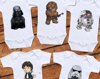 Star Wars Inspired Baby Bodysuit Set - 5 Set