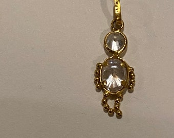 Charms for Bracelets and Necklaces 10k Yellow Gold Stork Charm With Lobster Claw Clasp