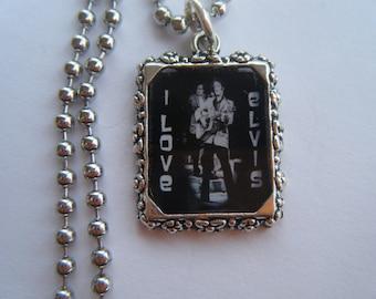 Elvis Presley,  I Love Elvis Necklace