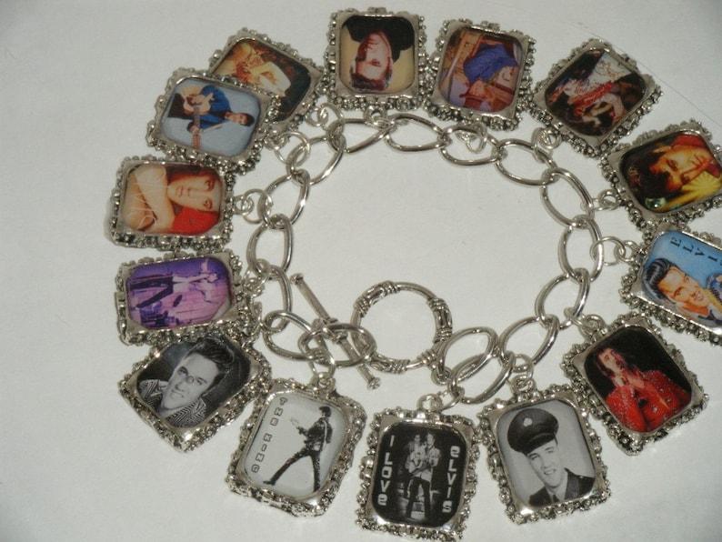 Elvis Charm Bracelet  Altered Art image 1