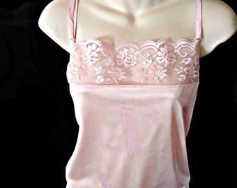 Pink lacey Vintage Camisole Size 38 dea39610e