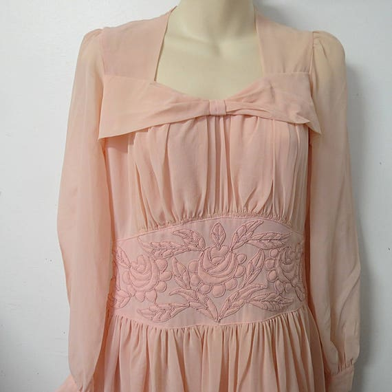 1940's Vintage Pink Party Evening Dress