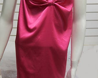 Pink Satin Victorias Secret short Nighgown Large  #573