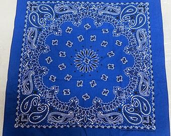 Vintage Dark Blue Cotton Bandana Have a hank