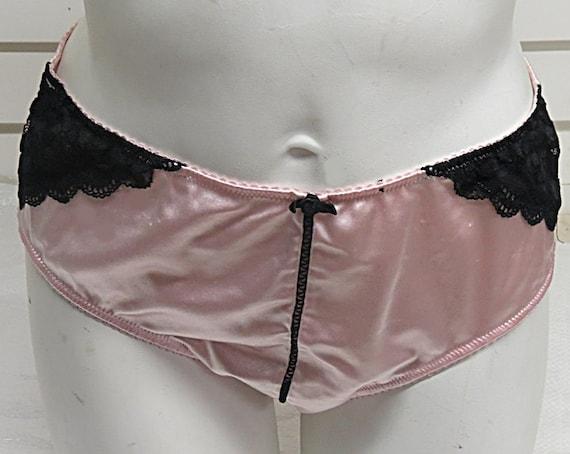 e96f7b2cb0ff Vintage Pink Satin Pantie Girdle Size Large P88 | Etsy
