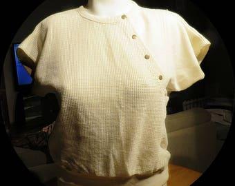Womans Vintage Cotton Blend Top Size Medium  #357