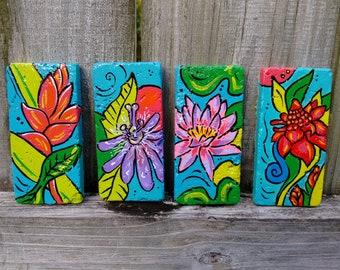 Hand painted Florida beachy trivets