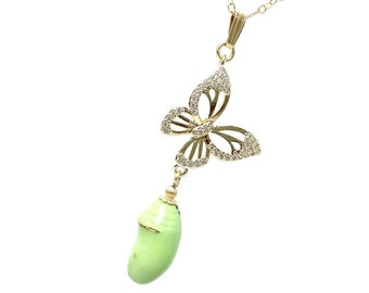 Porcelain CZ Monarch Butterfly Chrysalis, Pottery Cocoon Jewelry Lover Pendant Ceramic Necklace Theme Wedding, Cancer Survivor Symbolic Gift