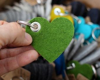 Heart Key Fob, Heart Shaped Key Chain, Heart Key Ring, Valentine's Day Gift