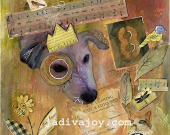 Riley Man-Matted Mixed Media Print (8x10 matted to 11x14)